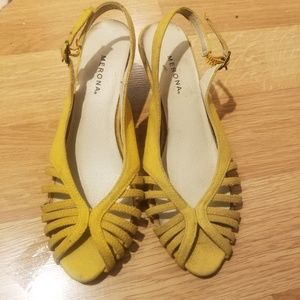 Yellow Wedge Slingbacks